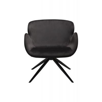 Lounge Chair Gaia | Samt Schwarz