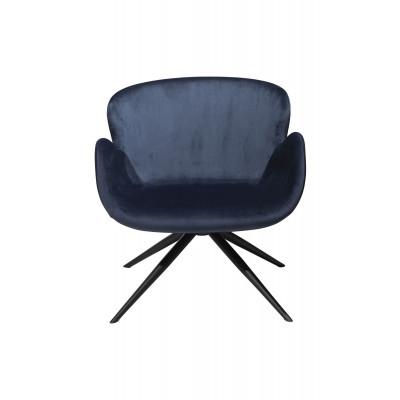 Lounge Chair Gaia | Velvet Blue