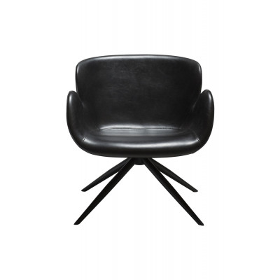 Lounge Chair Gaia | Art. Leder / Vintage Schwarz