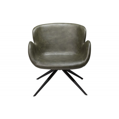 Lounge Chair Gaia | Art. Leather / Vintage Green