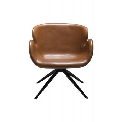 Lounge Chair Gaia | Art. Leder / Vintage Hellbraun