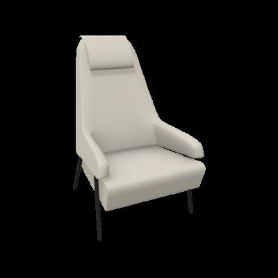Sessel Gap Metallbeine / Hohe Rückenlehne | Beige