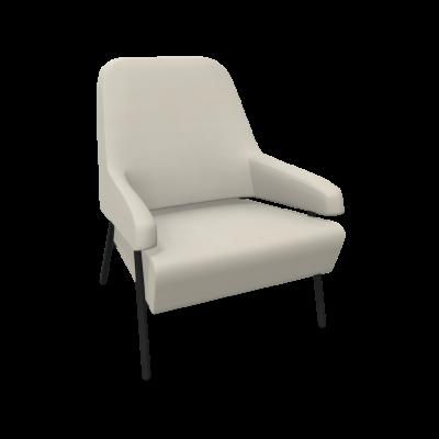 Sessel Gap Metallbeine / Niedrige Rückenlehne | Beige