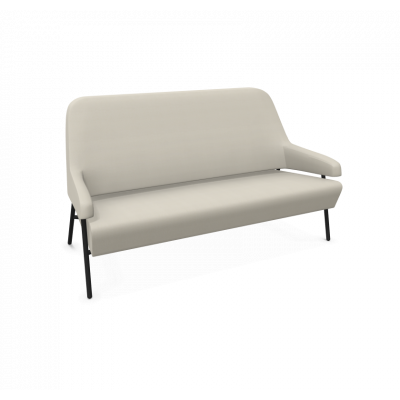 Sofa Gap Metallbeine / Niedrige Rückenlehne | Beige