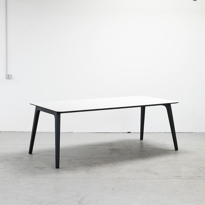 Table Gate | Weißes Laminat-160