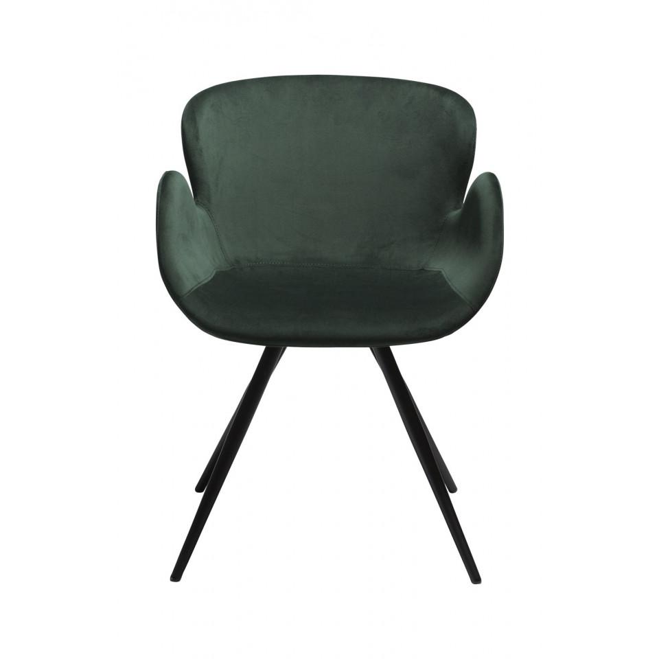 Stuhl Gaia Velvet   Grün