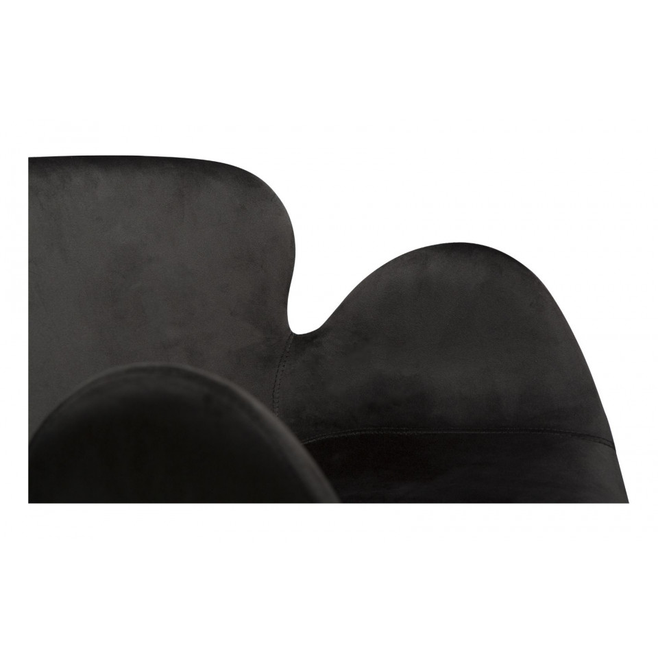Stuhl Gaia Velvet   Schwarz