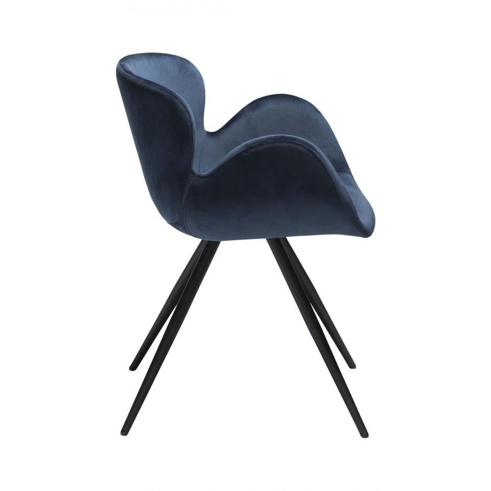 Stuhl Gaia Velvet | Blau