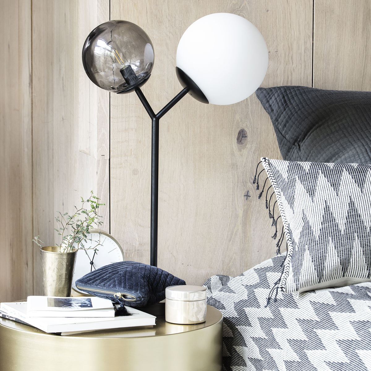 Table Lamp Twice   Black