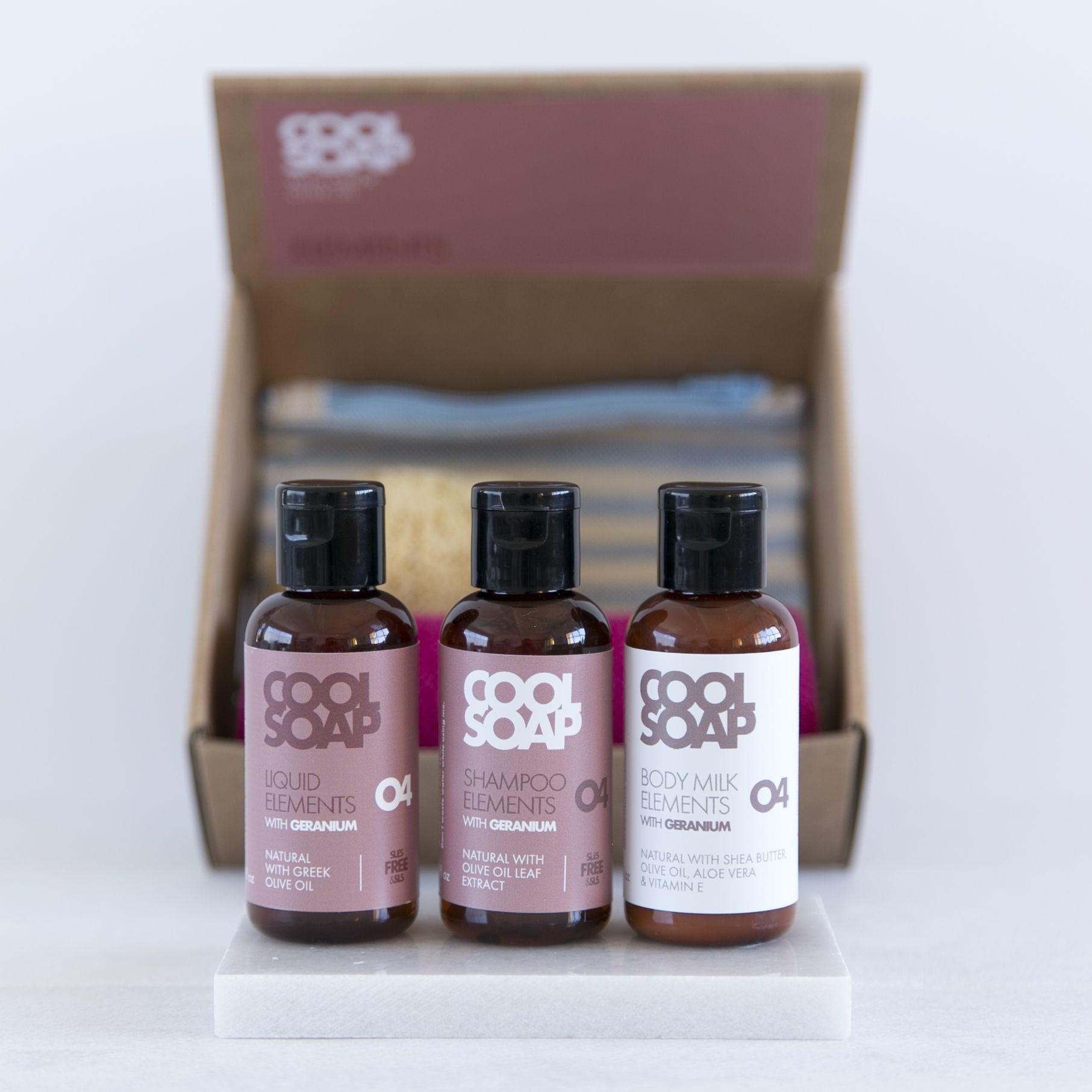 Giftbox   Savon, Shampouiner, Bodymilk   Géranium