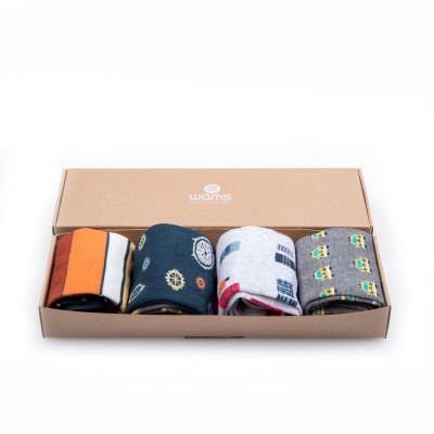 Unisex-Socken 4er-Set   Kapsel-Box