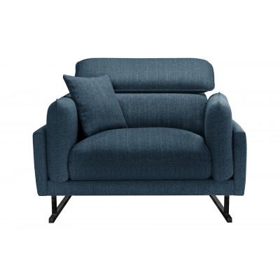 Sessel Gigi   Blau & Schwarze Beine