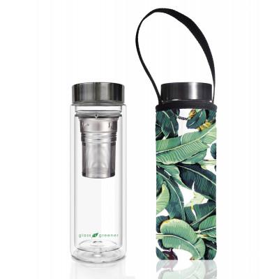 Teeflasche Glass Is Greener + Tragehülle | Banana Leaf