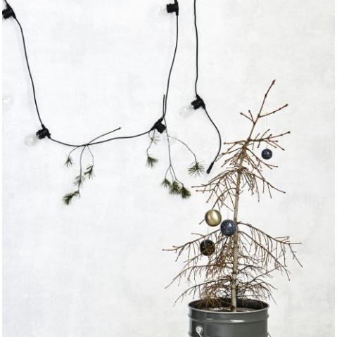 Guirlande Function Noir   10 Petites Ampoules Rondes Led