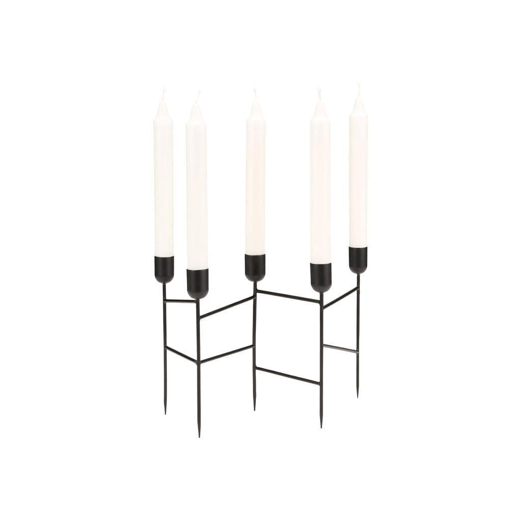 Kerzenständer Spids | Schwarz