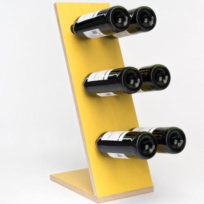 Weinregal Kompakt Sechs | Gelb