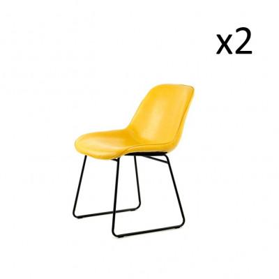 Stuhl Doris 2er-Set | Gelb