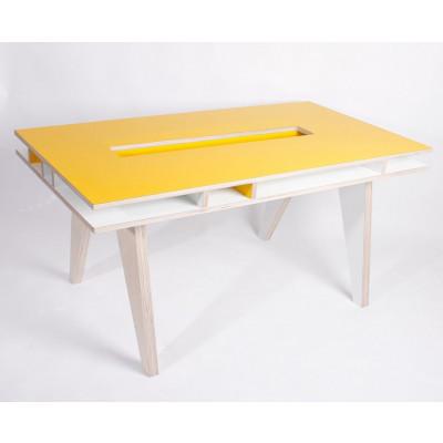 Schreibtisch für Erwachsene Gelb