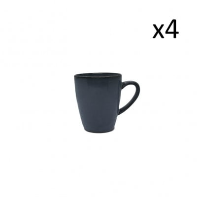 Becher Magar 22 cl 4er-Set | Blau Grau