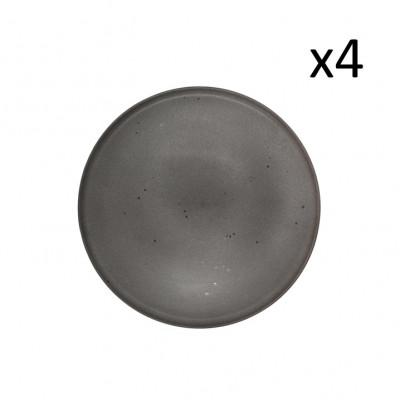 Teller Mauricio Ø 26 cm 4er-Set | Grau