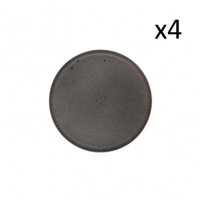 Teller Mauricio Ø 20.5 cm 4er-Set   Grau