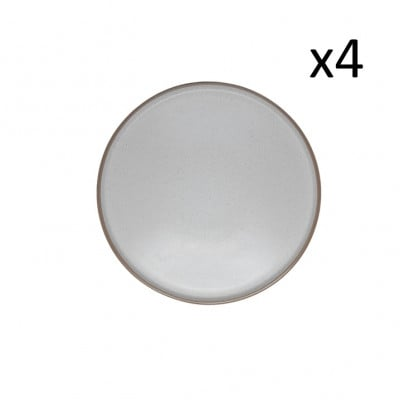 Teller Taber Ø 26.5 cm 4er-Set   Creme