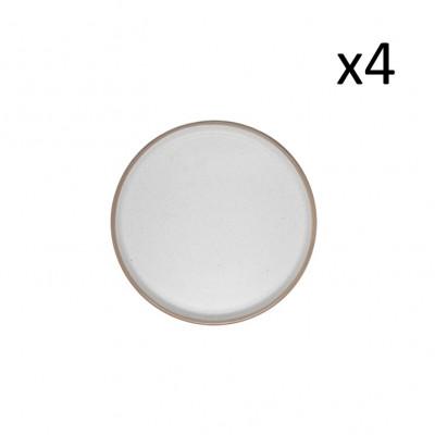 Teller Taber Ø 21.5 cm 4er-Set   Creme