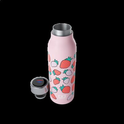 Isolierte Trinkflasche | Erdbeeren
