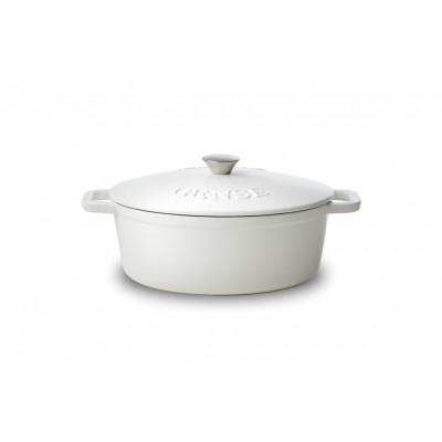 Cast iron Casserole | White / Oval