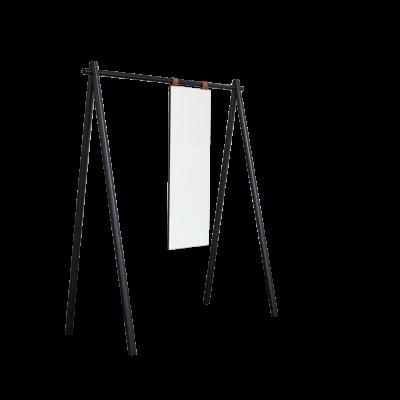 Kleiderständer mit Spiegel Hongi | Schwarz