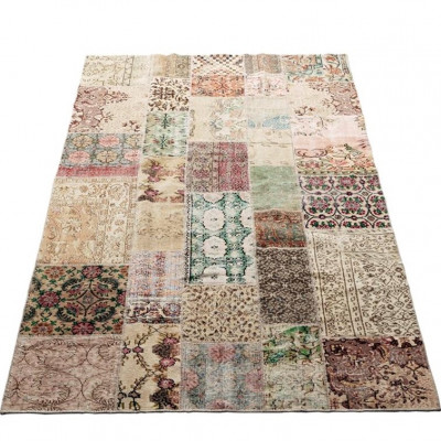 Patchwork-Teppich Vintage | Natur blass