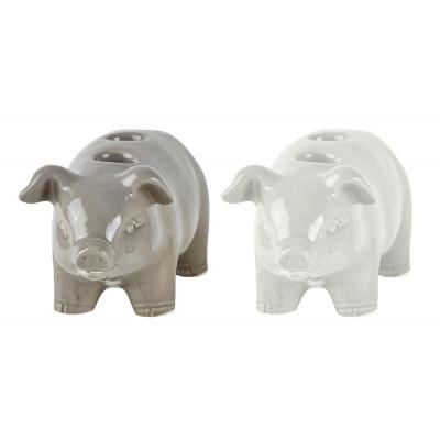 Candle Holder Pig Large | Set of 2