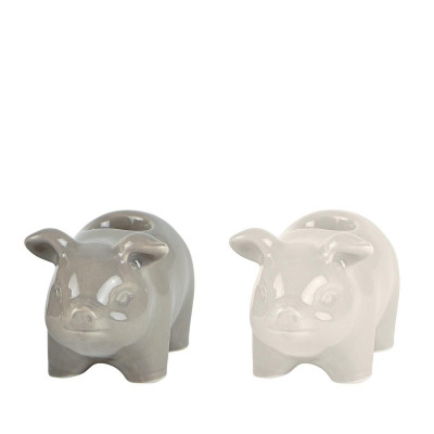 Candle Holder Pig Small | Set of 2