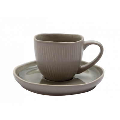 Expresso-Tasse & Untertasse Prego Plain | Latte