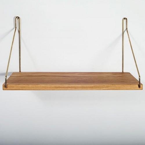 Shelf | Brass Brackets