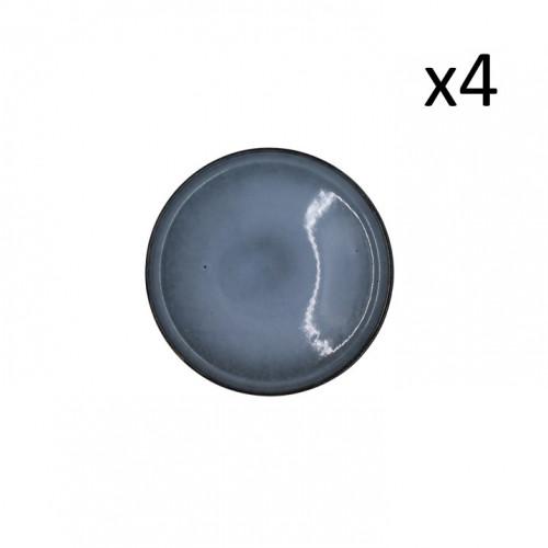 Teller Magar Ø 21 cm 4er-Set | Blau Grau