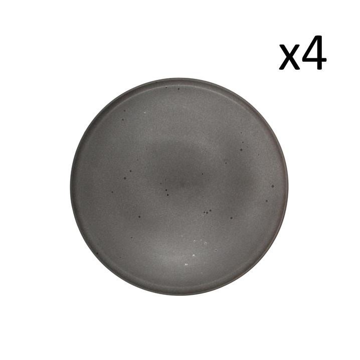 Teller Mauricio Ø 26 cm 4er-Set   Grau