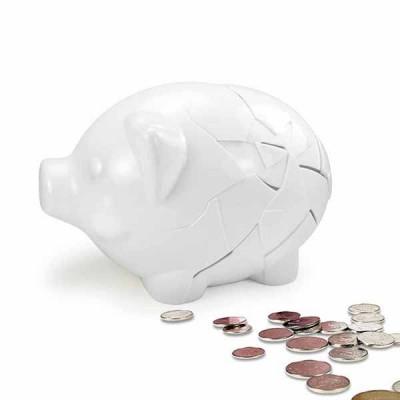Fixed Piggy Bank | White