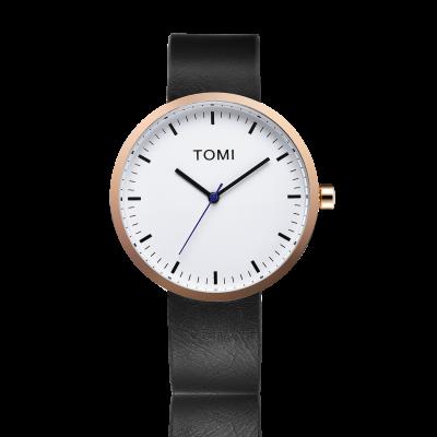 Tomi Watch | Black - White - Brass