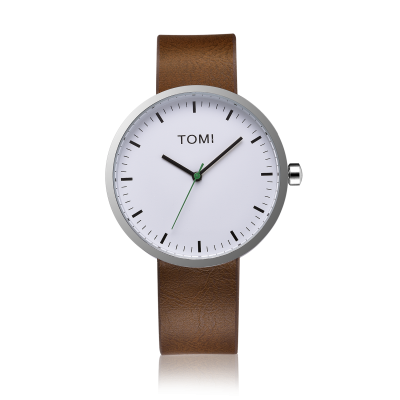 Tomi Watch | Brown - White - Silver