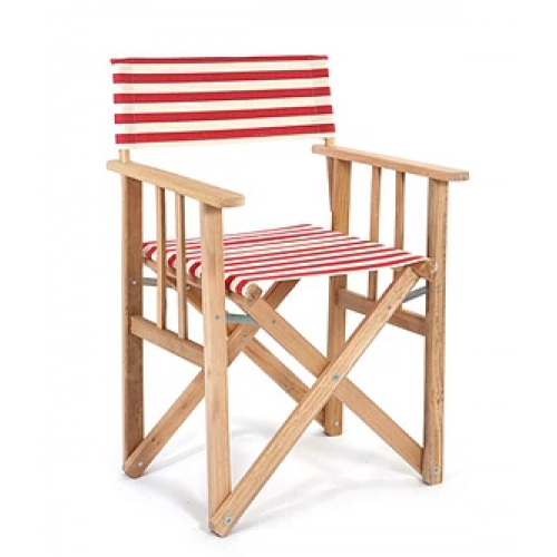 Director Chair Striped | Red / Natural