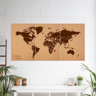 Woody World Map XXXL