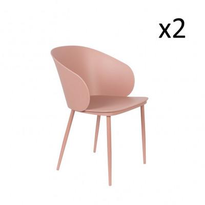 Stuhl Gigi - 2er Set | Rosa