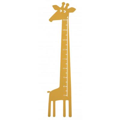 Giraffe Wandlineal   Gelb