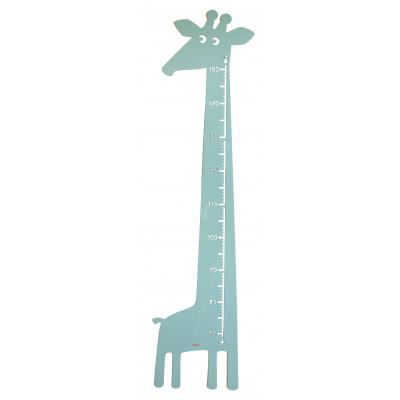 Giraffe Wandlineal   Pastellblau-Grün