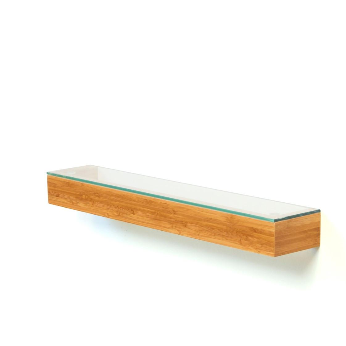 Etagère en Verre 55 cm | Bambou