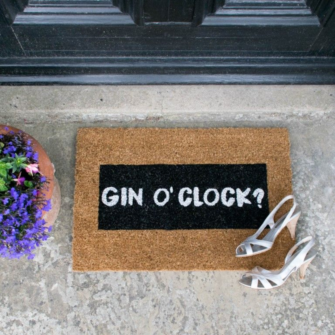 Glitzer-Fußmatte   Gin O'Clock