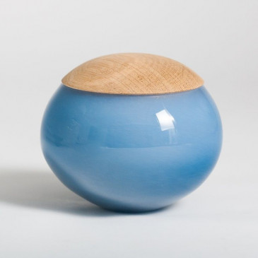 Unique Glass Jar Medium Blue