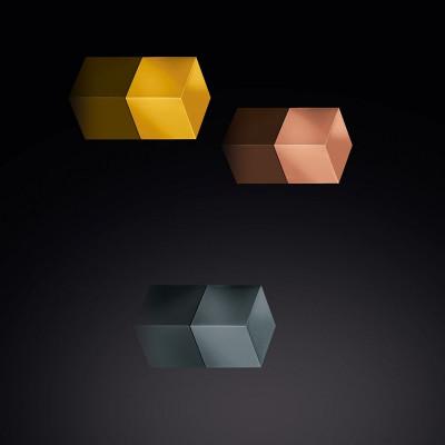 Set of 3 Magnets   Gold, Copper, Titanium