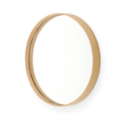 Runder Wandspiegel Glance 310 | Helles Holz